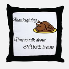 Funny Thanksgiving Throw Pillow