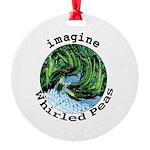 Imagine Whirled Peas Round Ornament