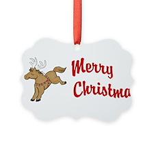 Lil' Brown Christmas Pony Ornament