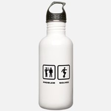 Unicycle Riding Water Bottle
