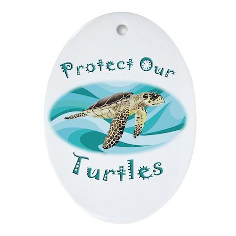 Sea Turtle Ornament (Oval)
