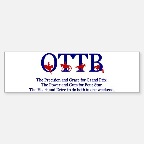 Save an OTTB Bumper Bumper Bumper Sticker