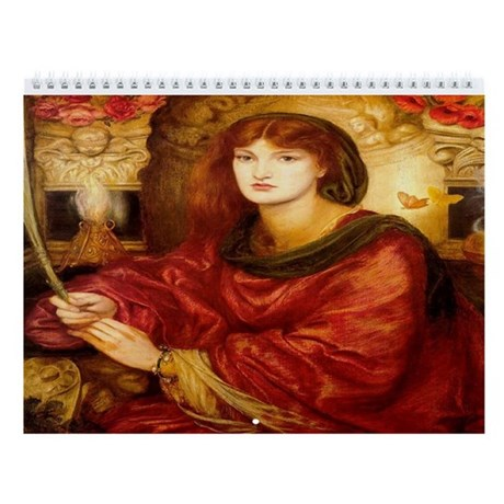 Romantic Art 12 Month Wall Calendar