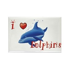 Dolphin Rectangle Magnet