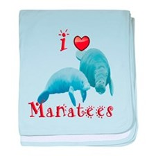 Manatee baby blanket