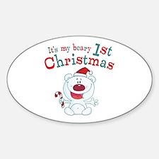 Polar Bear 1st Christmas Decal