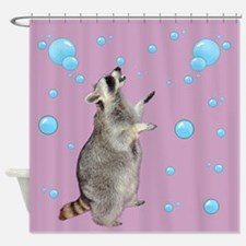 Raccoon With Bubbles Shower Curtain