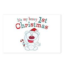 Polar Bear 1st Christmas Postcards (Package of 8)