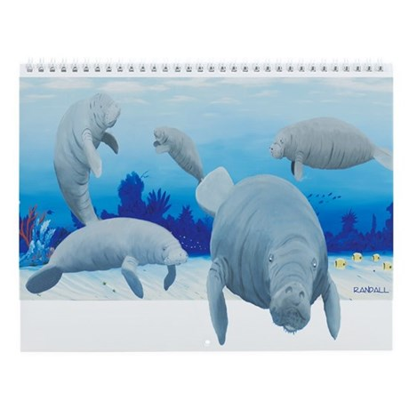 Manatee Wall Calendar