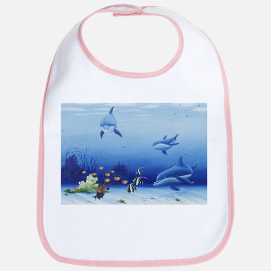 Dolphin Friends Bib