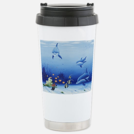 Dolphin Friends Stainless Steel Travel Mug