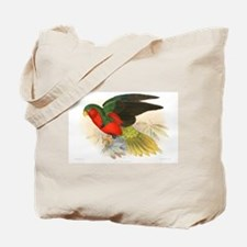 Brilliant Red and Green Parrot Tote Bag