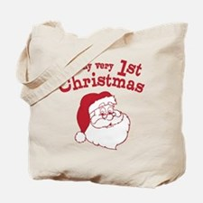 Retro 1st Christmas Tote Bag