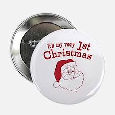 "Retro 1st Christmas 2.25"" Button"