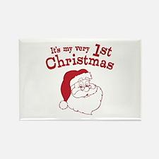 Retro 1st Christmas Rectangle Magnet