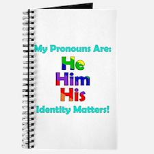 He Him His Pronouns Journal