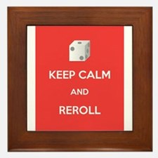 Keep Calm and Reroll Framed Tile