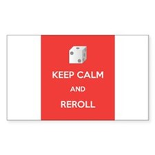 Keep Calm and Reroll Decal