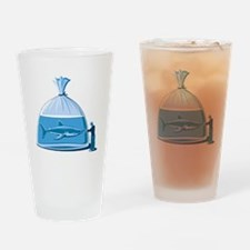 Shark in a Bag Drinking Glass