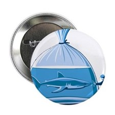 "Shark in a Bag 2.25"" Button"