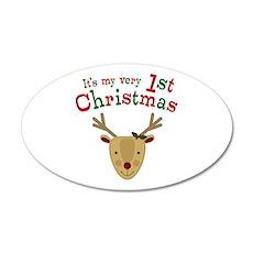 Reindeer 1st Christmas Wall Decal
