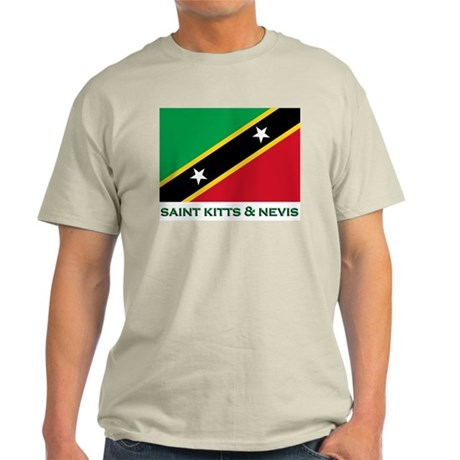 Flag of Saint Kitts & Nevis Ash Grey T-Shirt