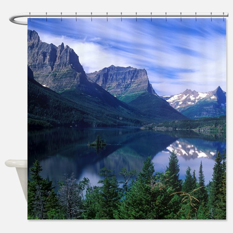 Montana Mountains Shower Curtain