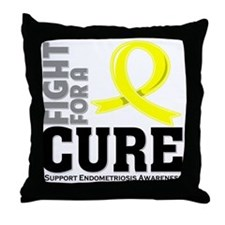 Endometriosis Fight For A Cure Throw Pillow