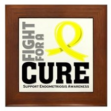 Endometriosis Fight For A Cure Framed Tile
