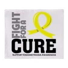 Endometriosis Fight For A Cure Throw Blanket