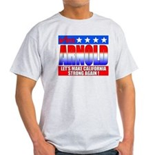 """Vote Arnold for Governor"" Ash Grey T"