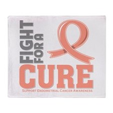 Endometrial Cancer Fight Throw Blanket