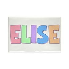 Elise Rainbow Pastel Rectangle Magnet