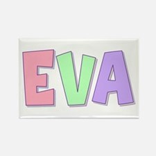 Eva Rainbow Pastel Rectangle Magnet