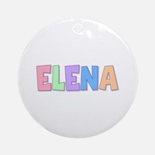 Elena Rainbow Pastel Round Ornament