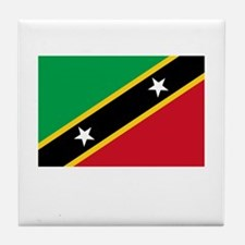 Saint Kitts & Nevis Flag Picture Tile Coaster