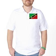 Saint Kitts & Nevis Flag Picture T-Shirt