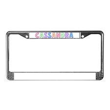 Cassandra Rainbow Pastel License Plate Frame