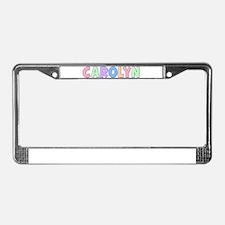 Carolyn Rainbow Pastel License Plate Frame