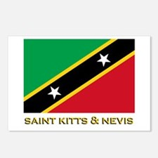 Saint Kitts & Nevis Flag Gear Postcards (Package o