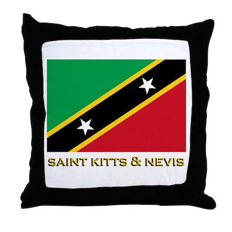 Saint Kitts & Nevis Flag Gear Throw Pillow