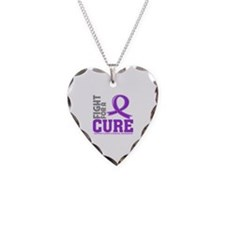 Crohns Disease Fight For A Cure Necklace Heart Cha
