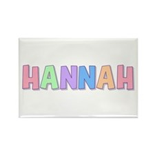 Hannah Rainbow Pastel Rectangle Magnet