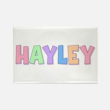 Hayley Rainbow Pastel Rectangle Magnet