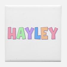 Hayley Rainbow Pastel Tile Coaster