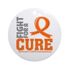 COPD Fight For A Cure Ornament (Round)