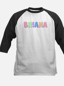 Briana Rainbow Pastel Kids Baseball Jersey