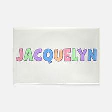 Jacquelyn Rainbow Pastel Rectangle Magnet