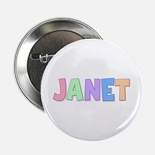 Janet Rainbow Pastel Button