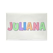 Juliana Rainbow Pastel Rectangle Magnet